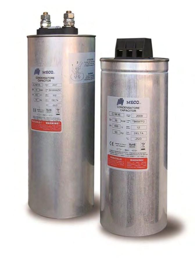 SERIE CMA 4 Condensatori trifase cilindrico