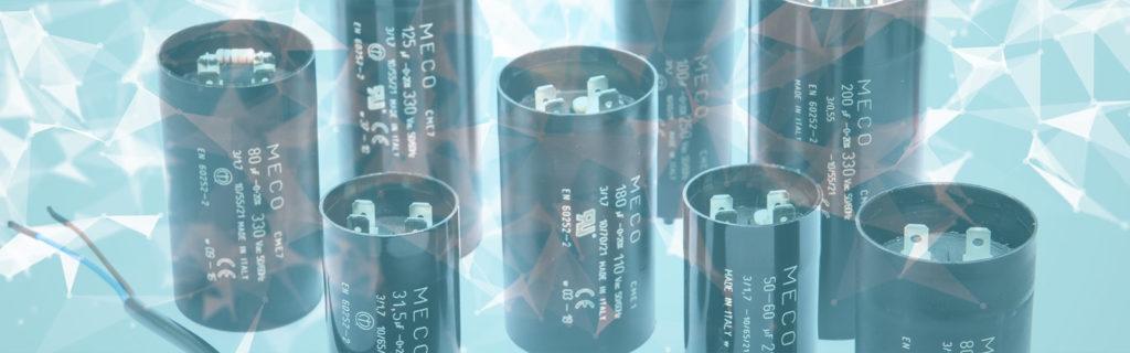 , Condensatori elettrolitici per avviamento motori monofase, Meco Capacitors, Meco Capacitors