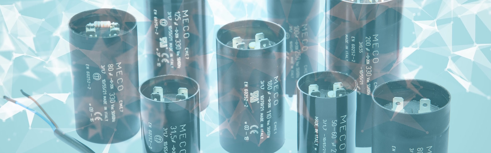 , ELECTROLYTIC CAPACITORS, Meco Capacitors